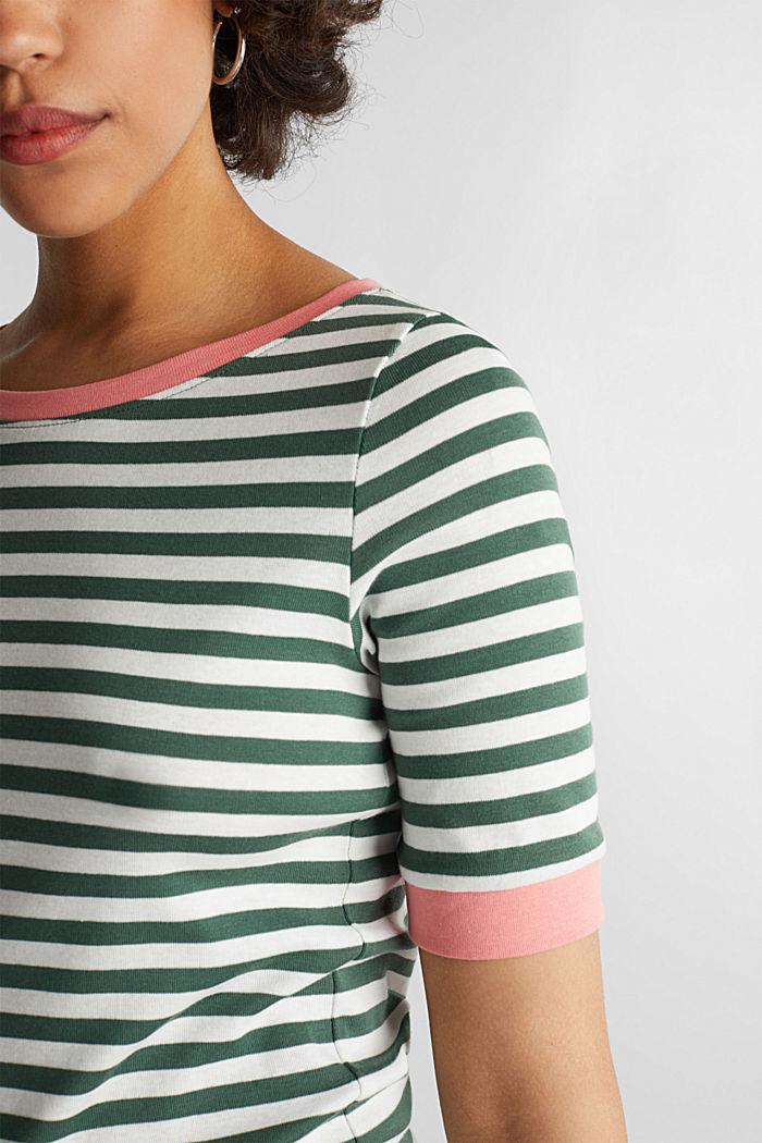 Joustin-t-paita 100 % puuvillaa, KHAKI GREEN, detail image number 2
