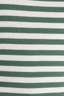 Ribbed T-shirt, 100% cotton, KHAKI GREEN, detail