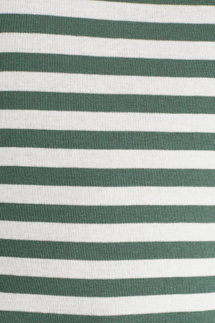 Joustin-t-paita 100 % puuvillaa, KHAKI GREEN, detail image number 4