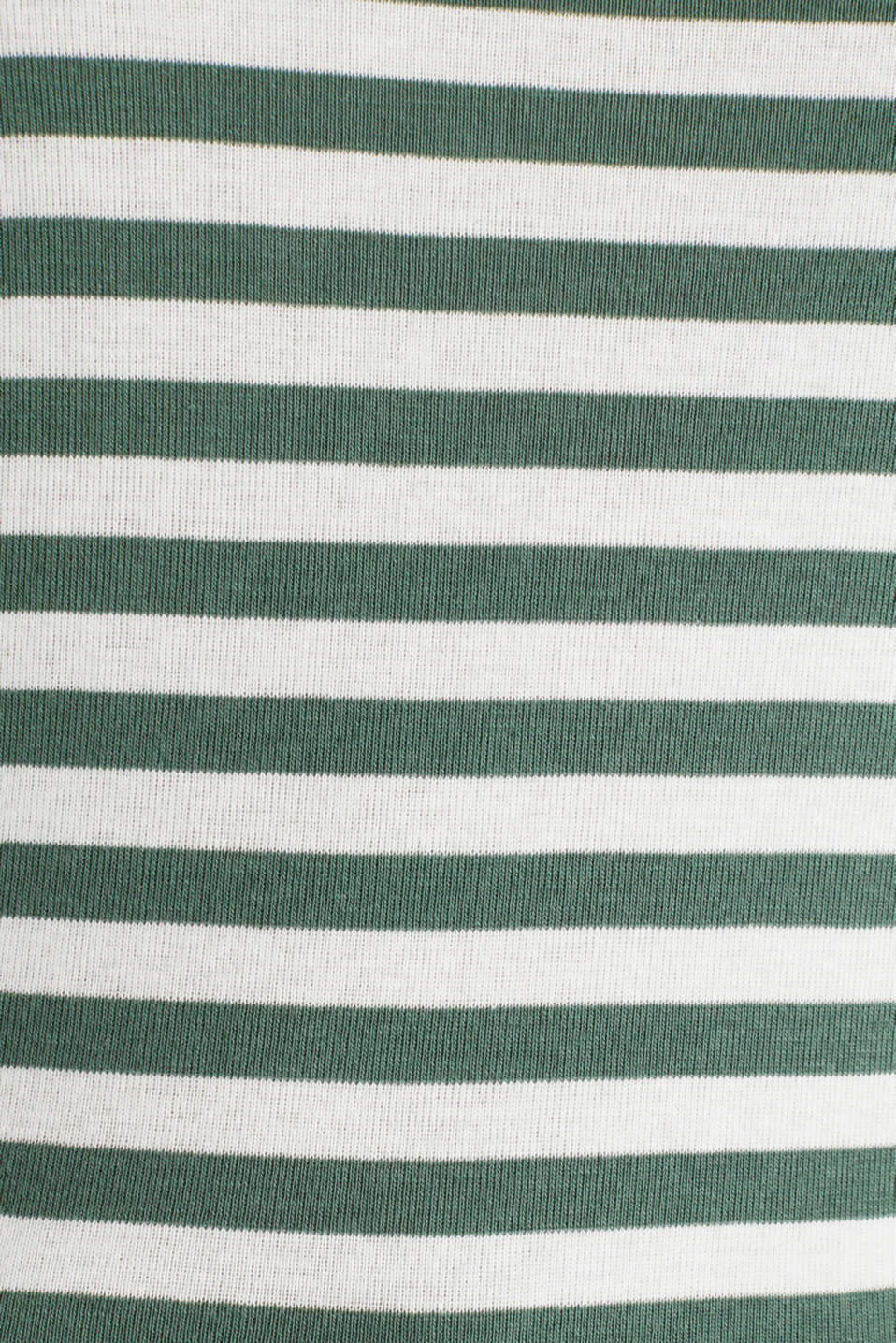 Striped ribbed T-shirt, 100% cotton, KHAKI GREEN, detail image number 4