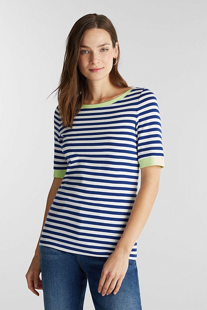 Ripp-T-Shirt, 100% Baumwolle, INK, detail image number 0