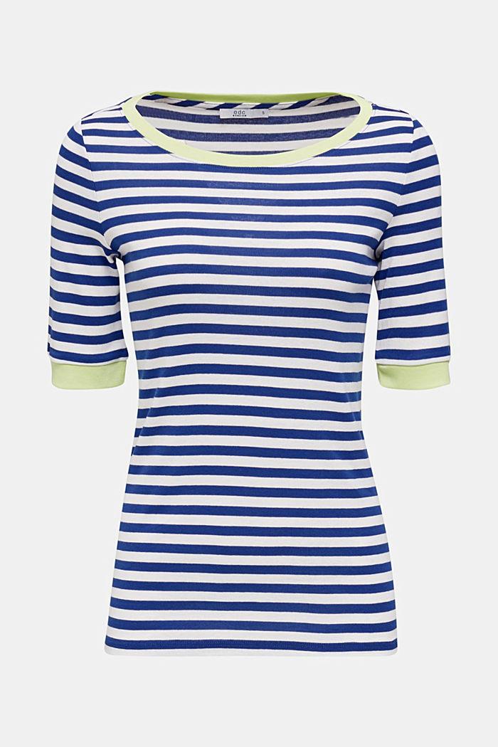Ripp-T-Shirt, 100% Baumwolle, INK, detail image number 5