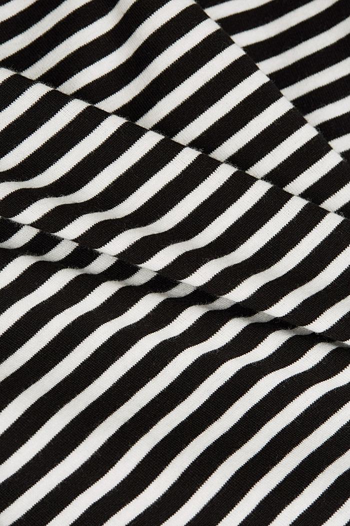 Striped long sleeve T-shirt, 100% organic cotton, BLACK, detail image number 4