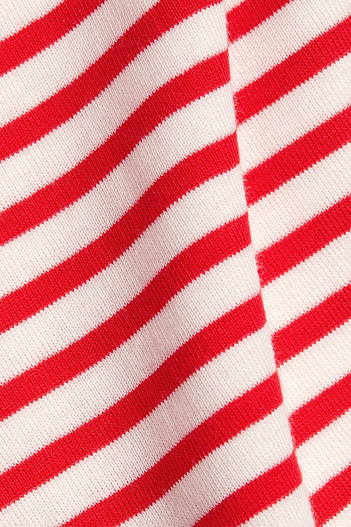 Striped long sleeve T-shirt, 100% organic cotton, RED, detail image number 4