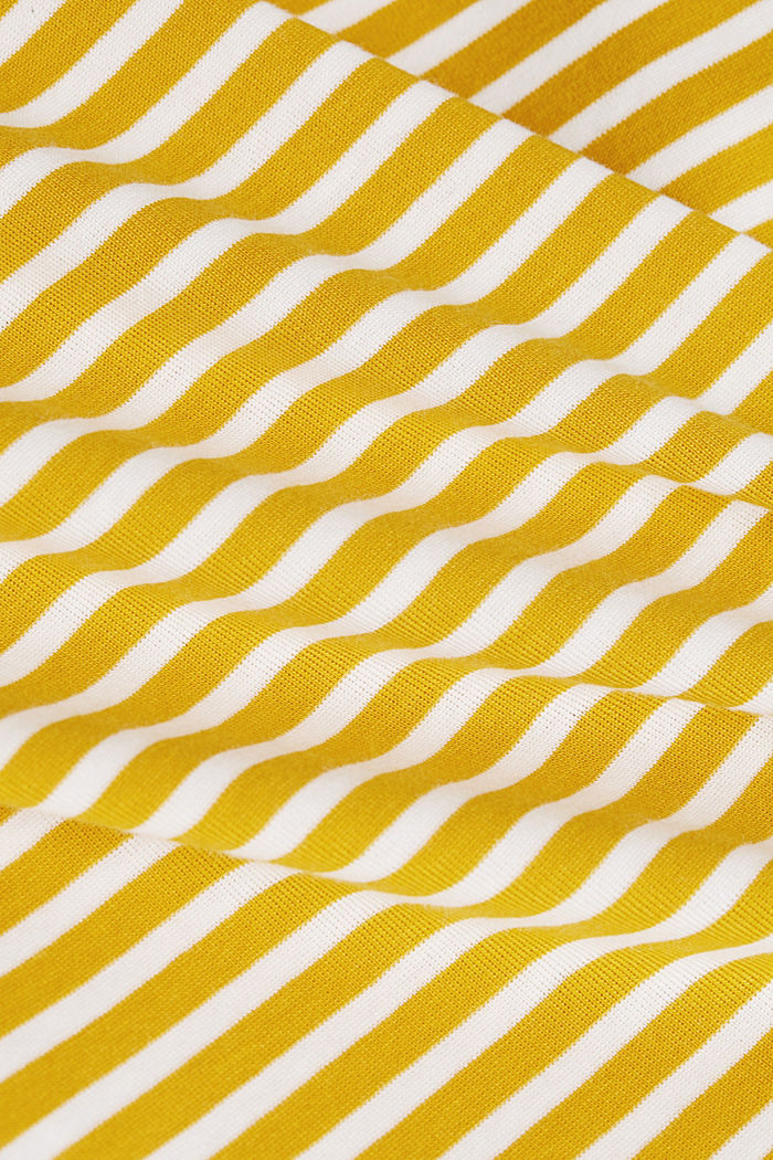 Striped long sleeve T-shirt, 100% organic cotton, BRASS YELLOW, detail image number 4