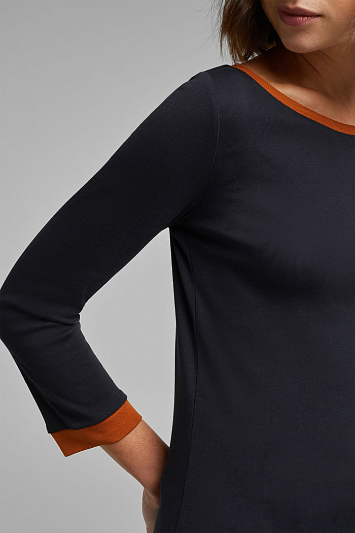 Jersey top made of 100% organic cotton, BLACK, detail image number 2