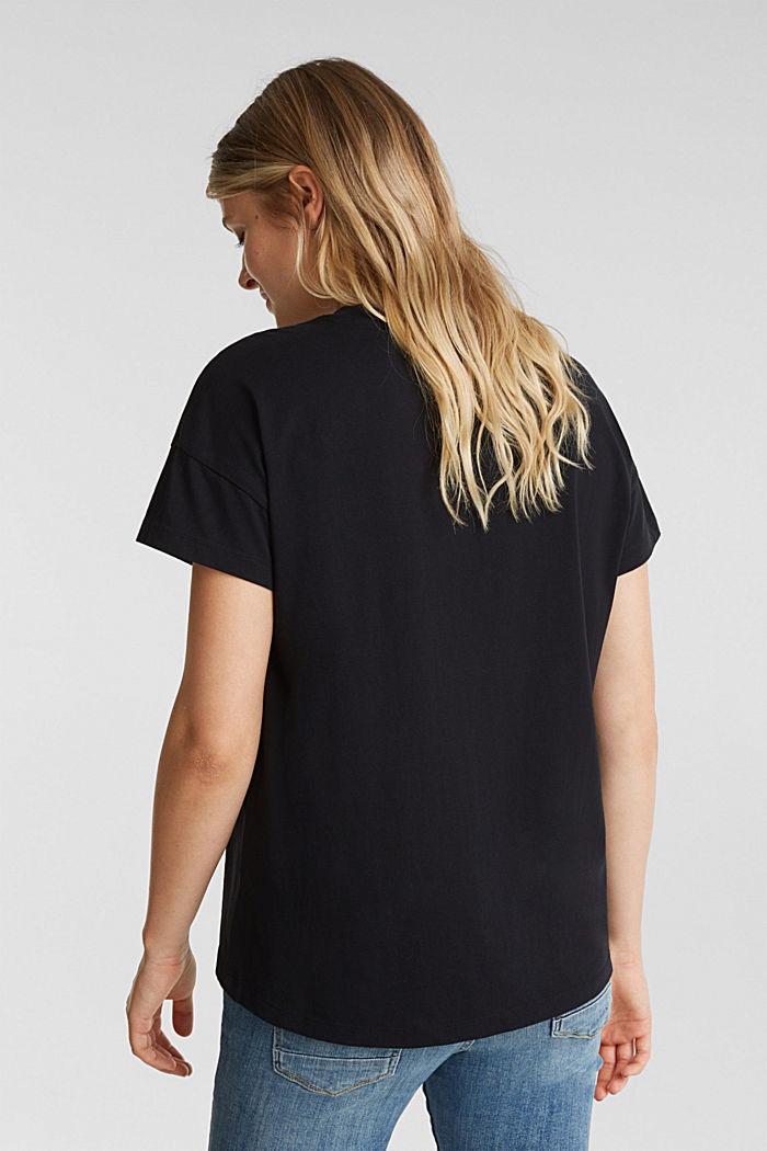 Basic T-shirt made of 100% cotton, BLACK, detail image number 3