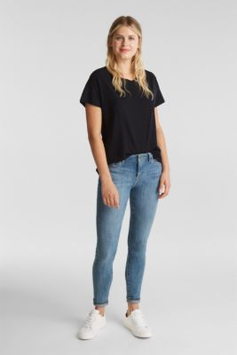 Basic T-shirt made of 100% cotton, BLACK, detail