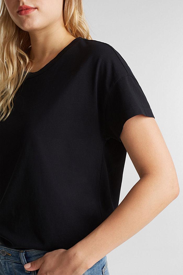 Basic T-shirt made of 100% cotton, BLACK, detail image number 2
