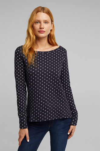 Double-faced long sleeve top, 100% organic cotton