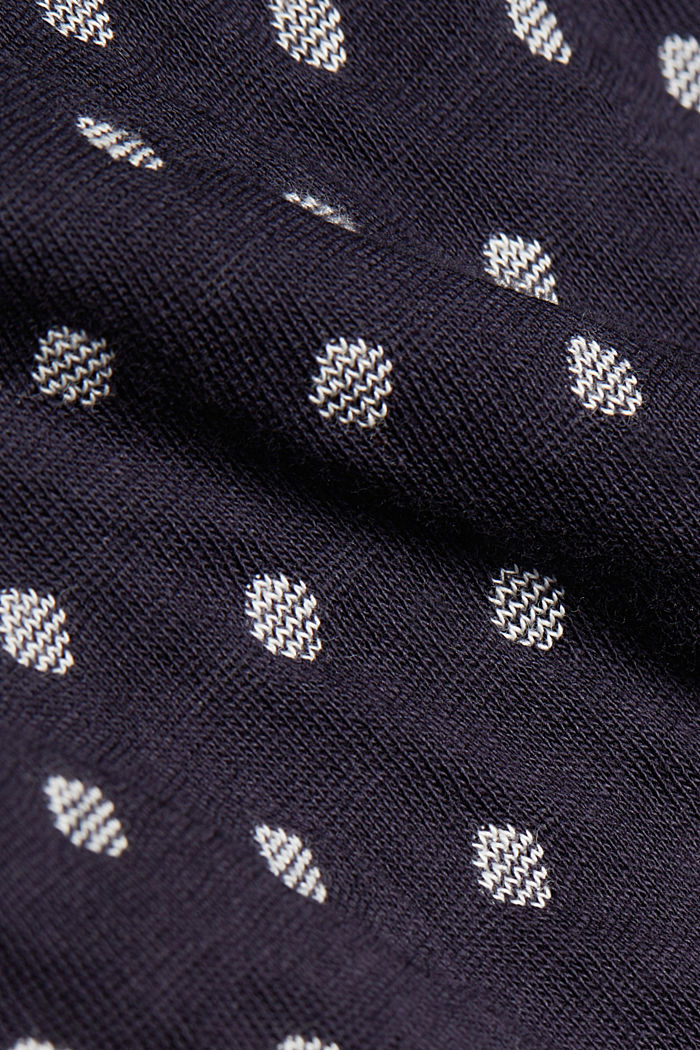 Double-faced long sleeve top, 100% organic cotton, NAVY, detail image number 4