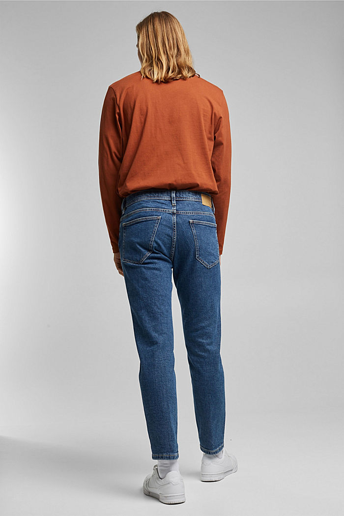 Stretch jeans containing organic cotton, BLUE MEDIUM WASHED, detail image number 1