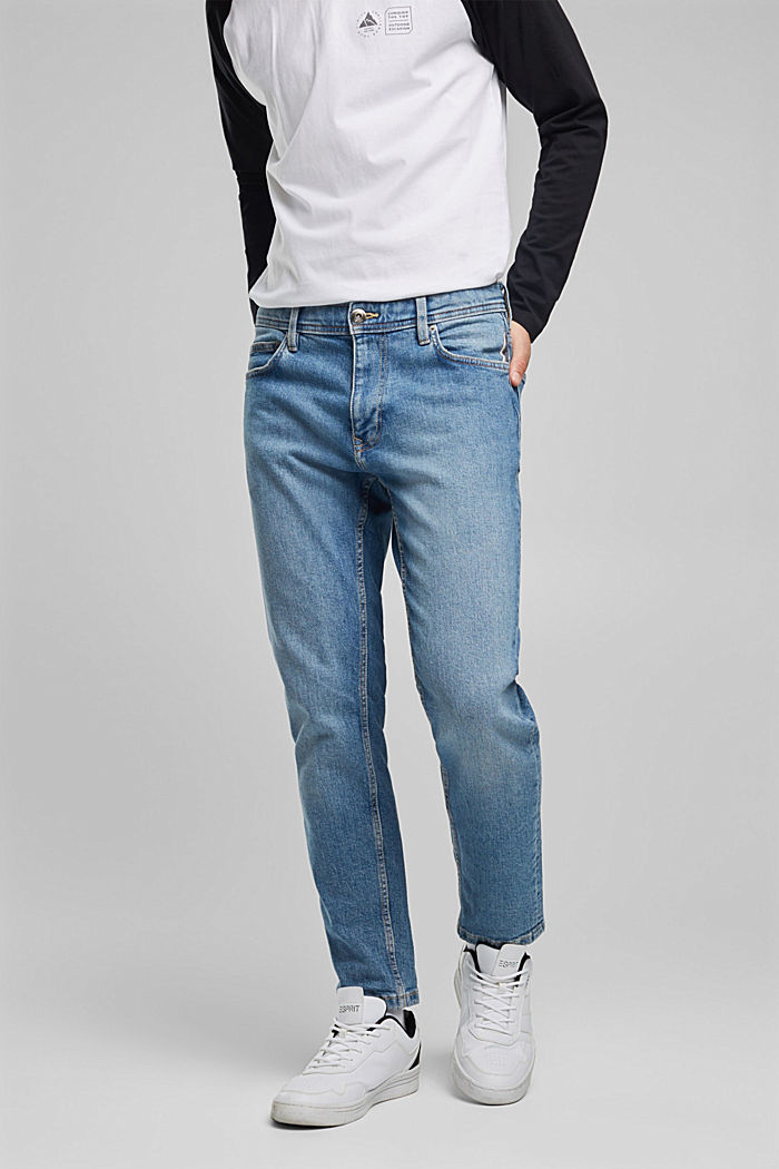 Stretch jeans containing organic cotton, BLUE LIGHT WASHED, detail image number 0