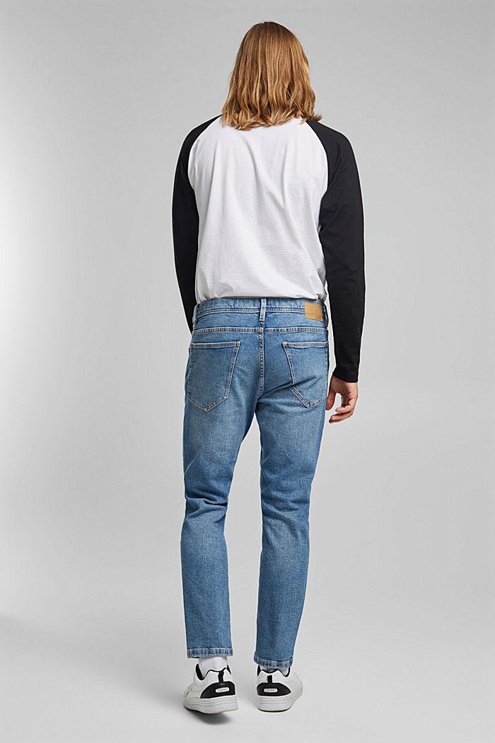 Jeans elasticizzati con cotone biologico, BLUE LIGHT WASHED, detail image number 1
