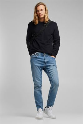 Stretch jeans containing organic cotton, BLUE LIGHT WASH, detail