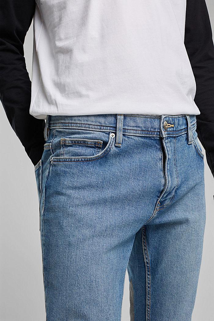 Jeans elasticizzati con cotone biologico, BLUE LIGHT WASHED, detail image number 3