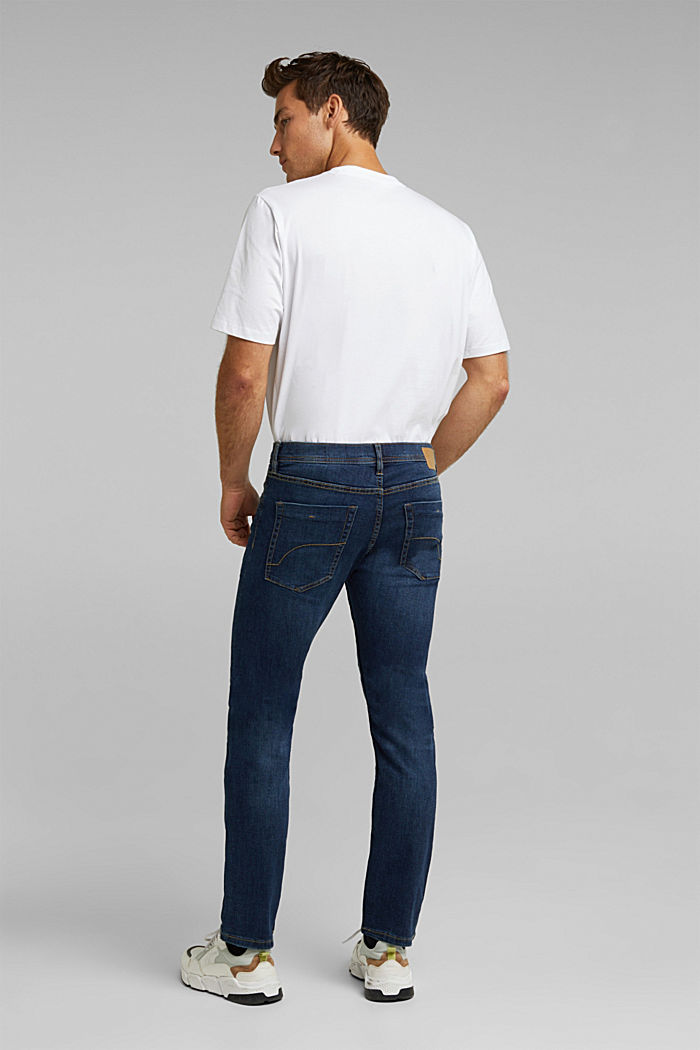 Basic-Jeans mit Organic Cotton, BLUE DARK WASHED, detail image number 1
