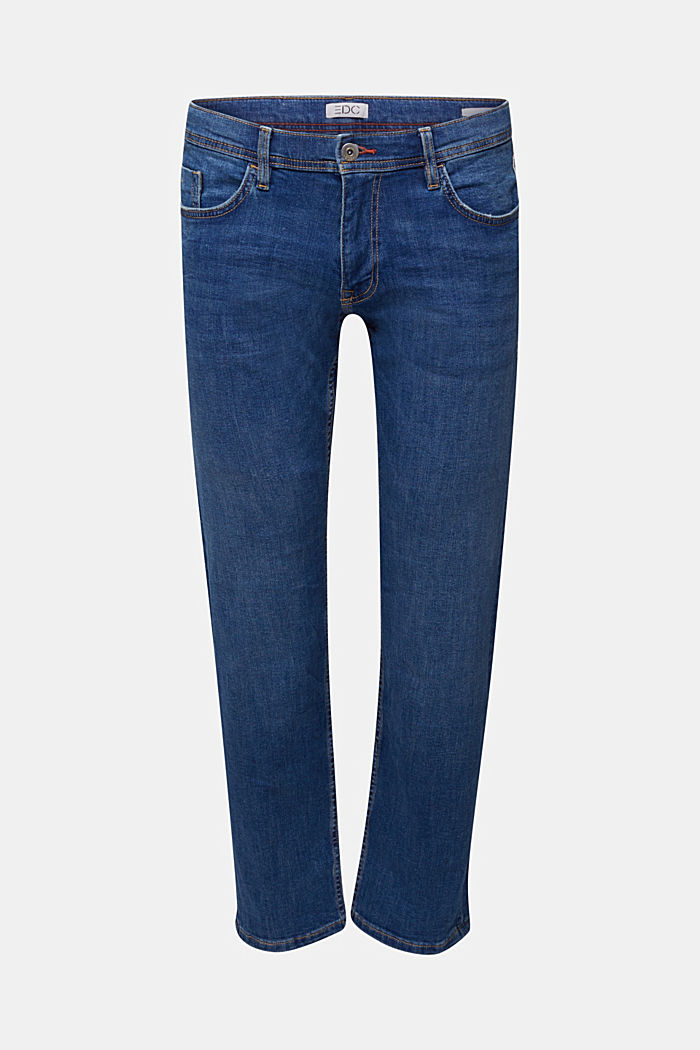 Basic-Jeans mit Organic Cotton, BLUE MEDIUM WASHED, detail image number 6