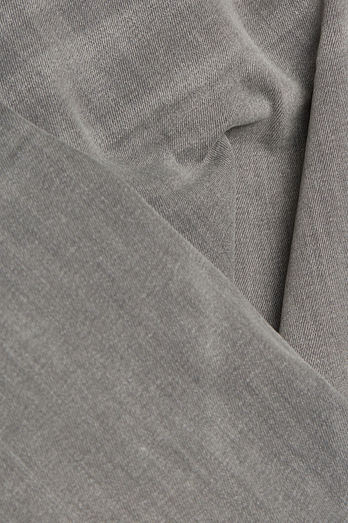 Basic jeans with organic cotton, GREY MEDIUM WASHED, detail image number 4