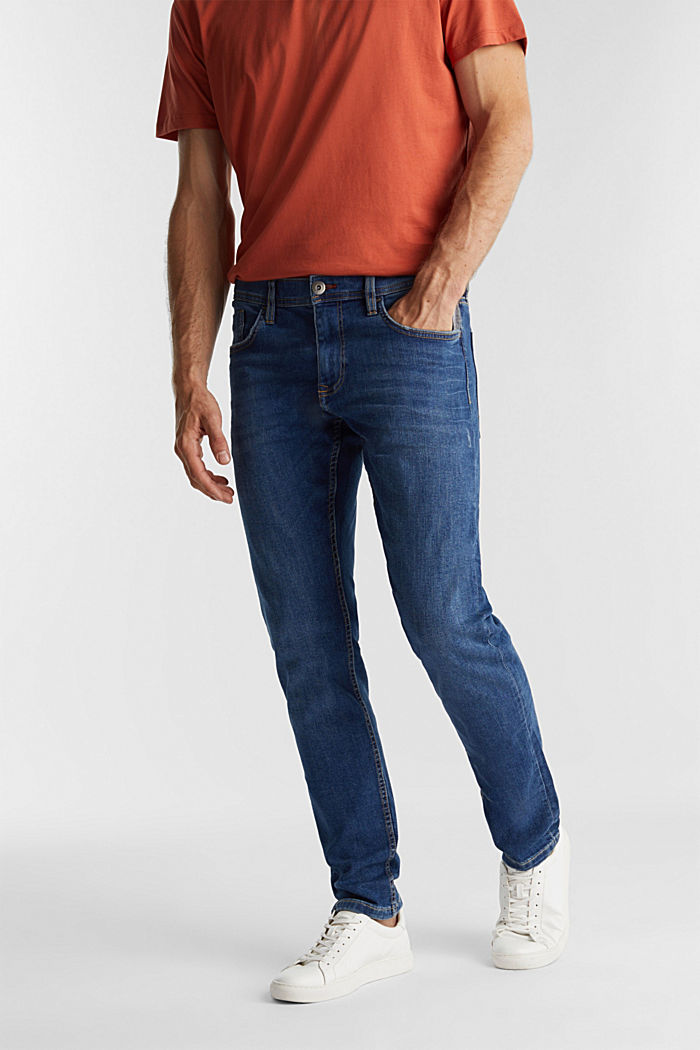 Stretch jeans containing organic cotton, BLUE MEDIUM WASHED, detail image number 0