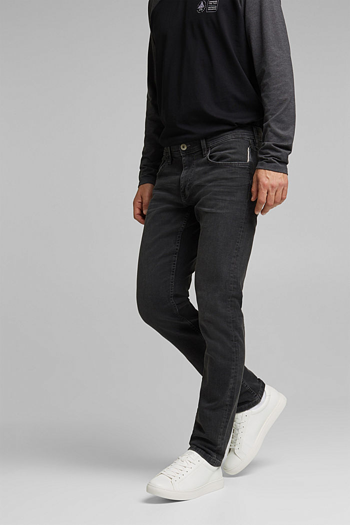Stretch-Jeans mit Organic Cotton, BLACK DARK WASHED, detail image number 0