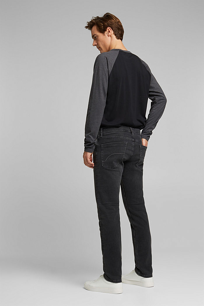 Stretch jeans containing organic cotton, BLACK DARK WASHED, detail image number 1