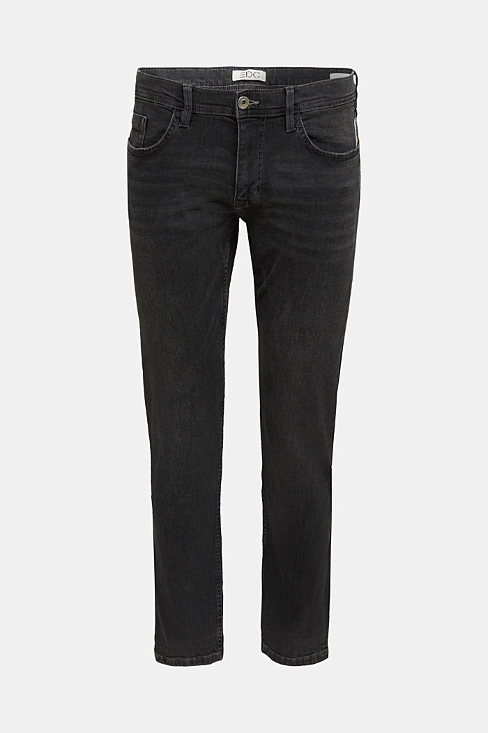 Stretch-Jeans mit Organic Cotton, BLACK DARK WASHED, detail image number 5