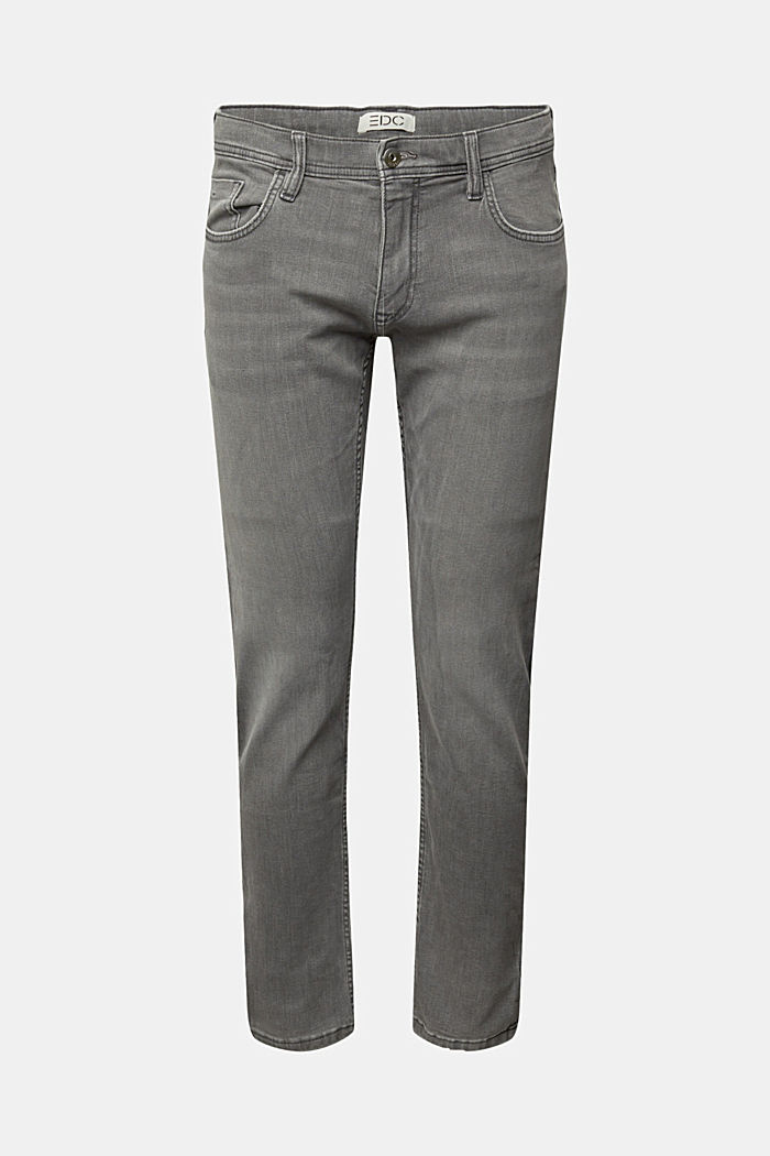 Stretch jeans containing organic cotton, GREY MEDIUM WASHED, detail image number 7