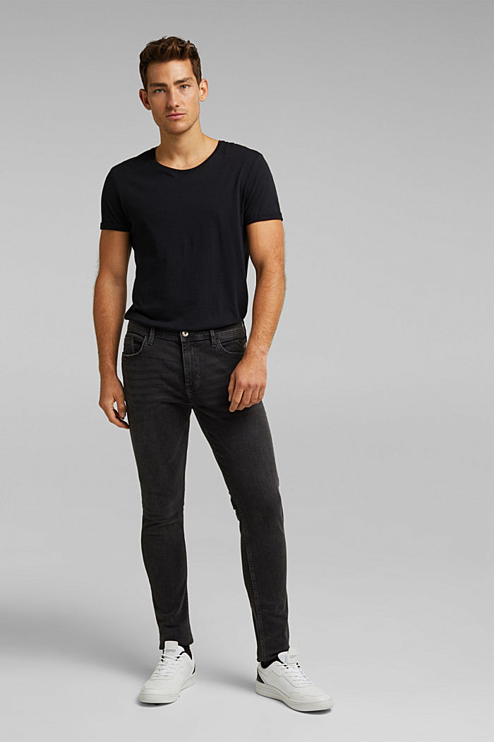 Stretch-Jeans mit Organic Cotton, BLACK DARK WASHED, detail image number 4