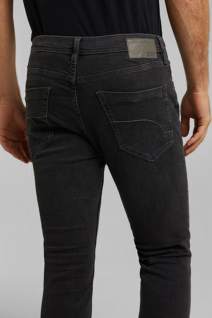 Stretch-Jeans mit Organic Cotton, BLACK DARK WASHED, detail image number 3