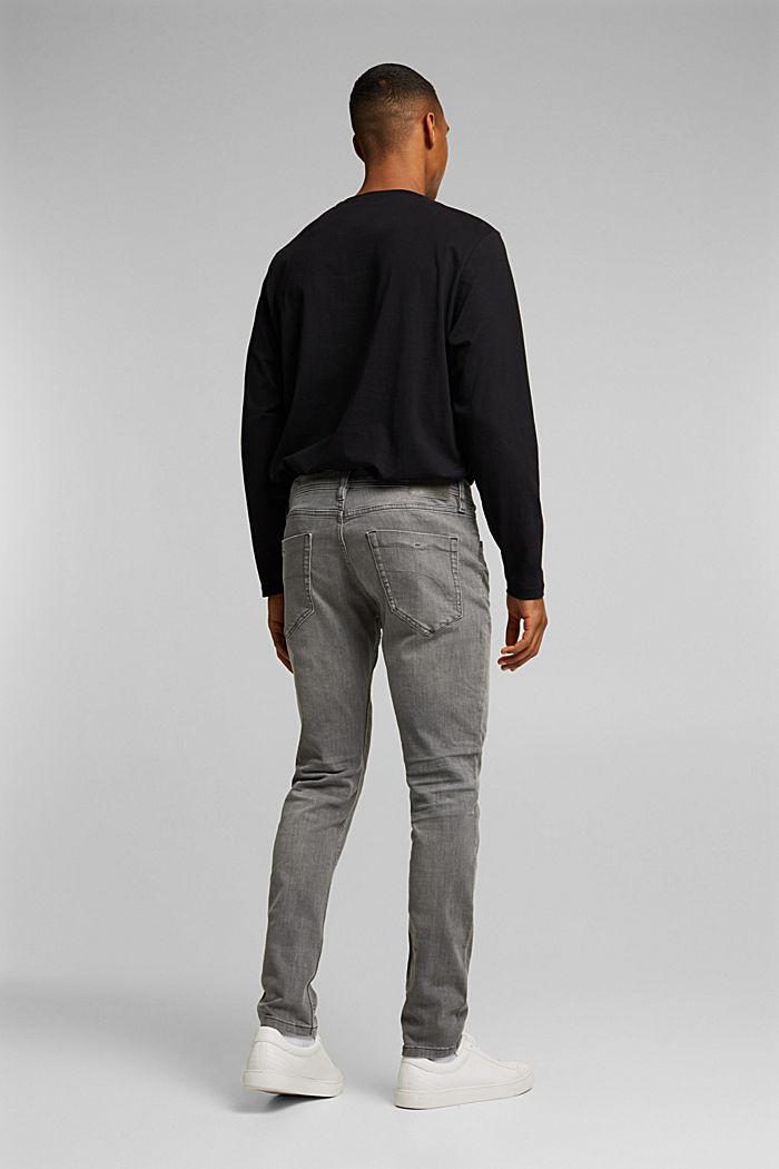 Stretch-Jeans mit Organic Cotton, GREY MEDIUM WASHED, detail image number 1