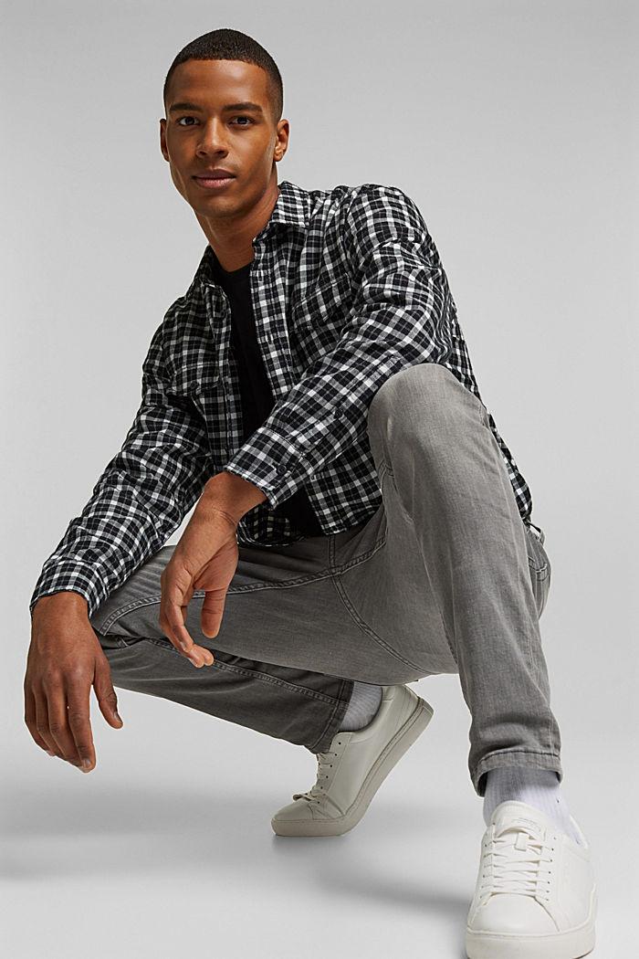 Stretch-Jeans mit Organic Cotton, GREY MEDIUM WASHED, detail image number 4