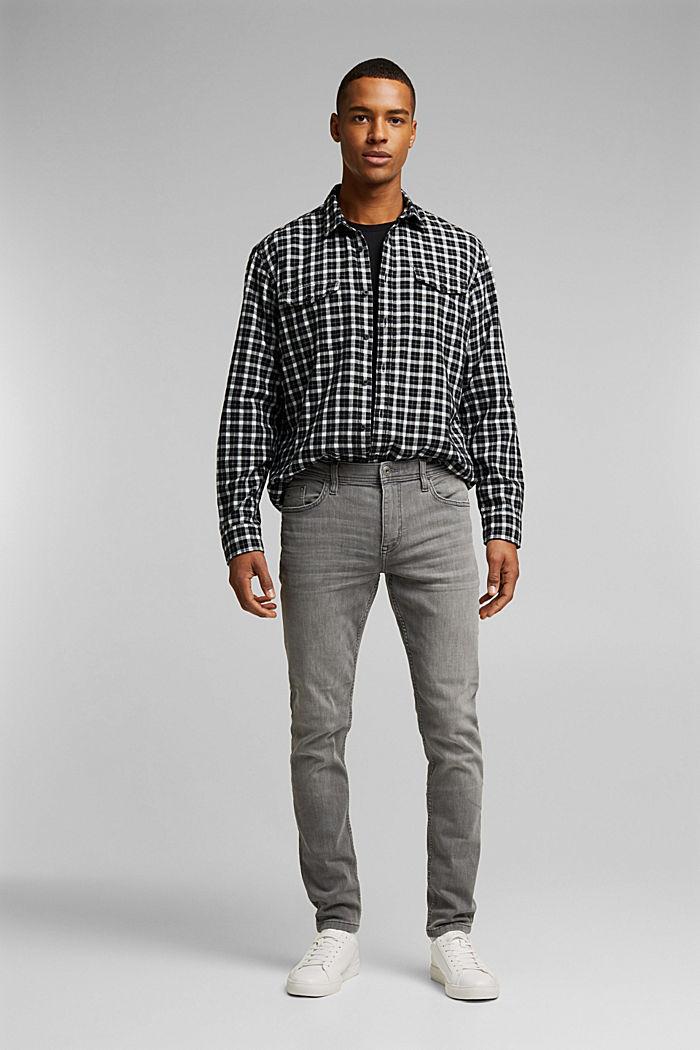 Stretch-Jeans mit Organic Cotton, GREY MEDIUM WASHED, detail image number 2