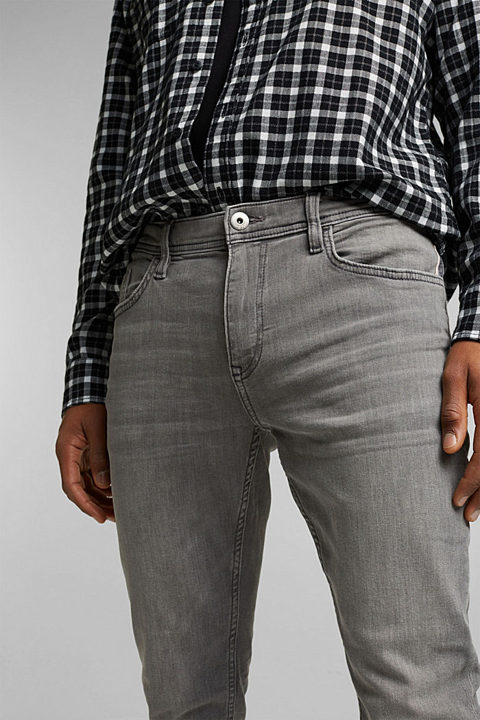 Stretch jeans containing organic cotton, GREY MEDIUM WASHED, detail image number 3