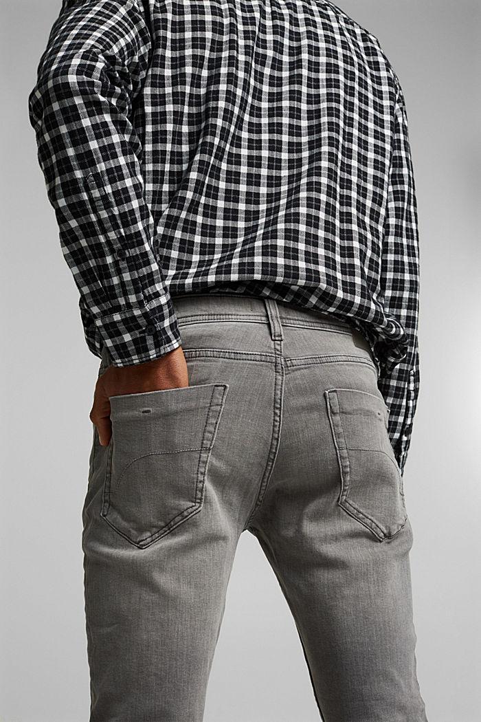 Stretch-Jeans mit Organic Cotton, GREY MEDIUM WASHED, detail image number 6