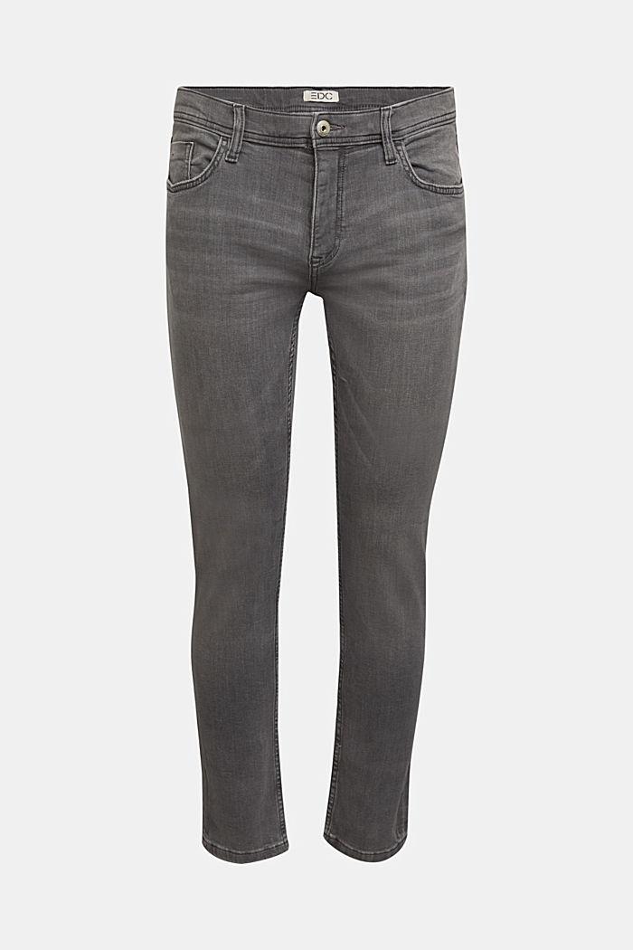 Stretch-Jeans mit Organic Cotton, GREY MEDIUM WASHED, detail image number 7