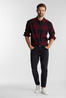 Stretch jeans containing organic cotton, BLACK DARK WASH, detail