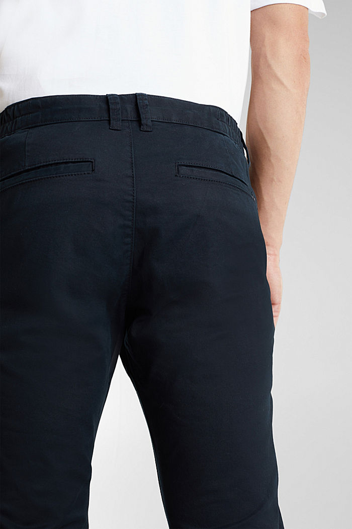 Stretch cotton chinos, BLACK, detail image number 5