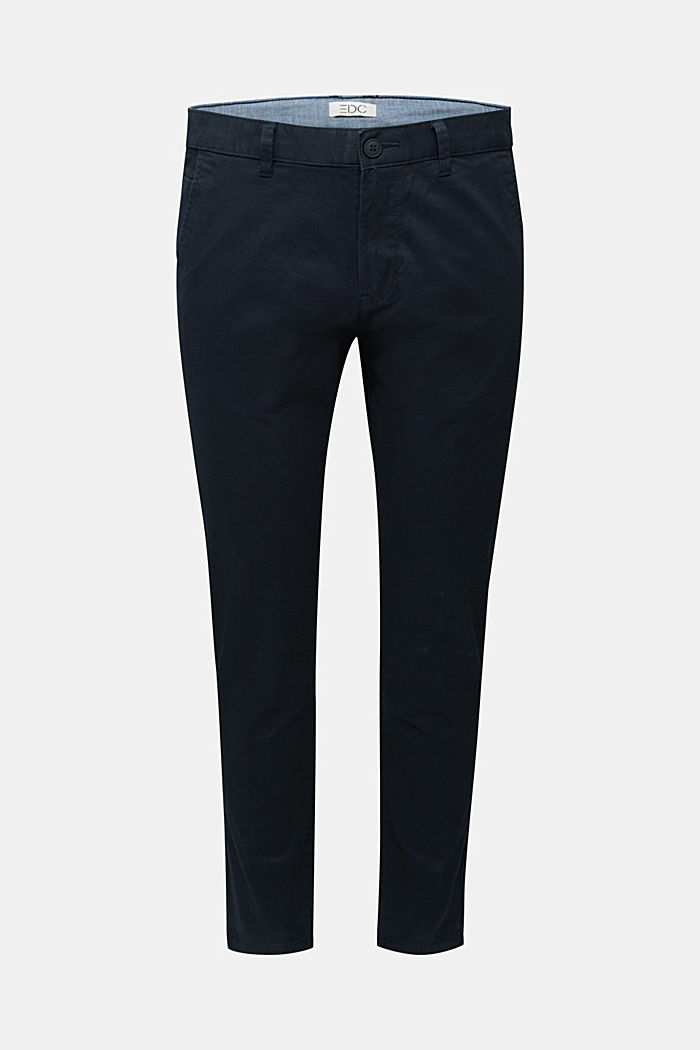 Stretch cotton chinos, BLACK, detail image number 7