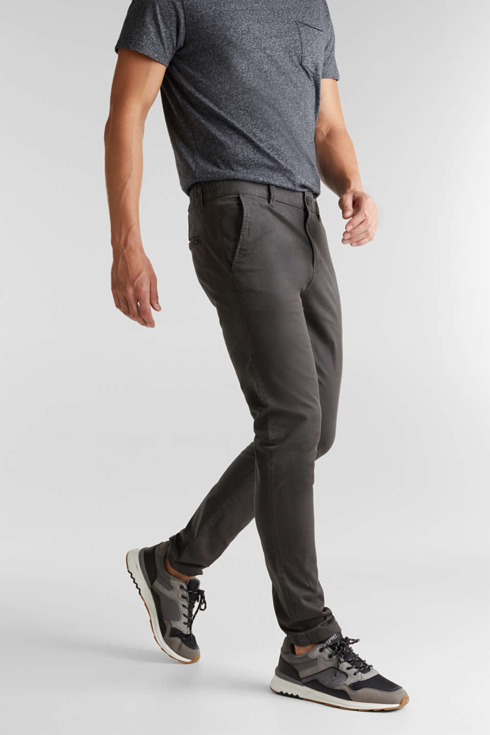 edc - Pantalon chino en coton stretch