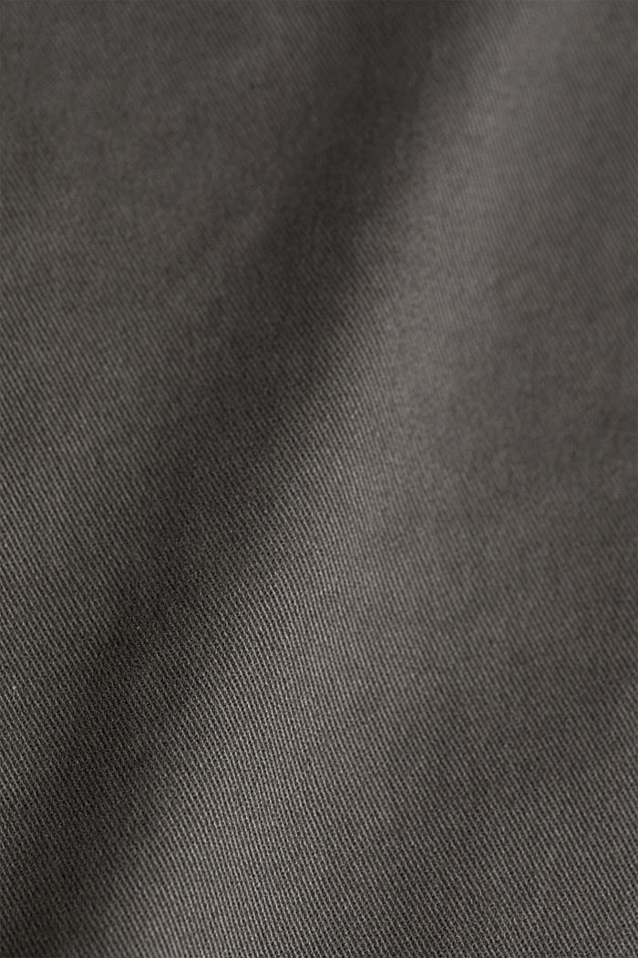 Stretch cotton chinos, ANTHRACITE, detail image number 4