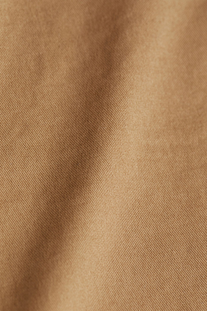 Stretch cotton chinos, CAMEL, detail image number 4