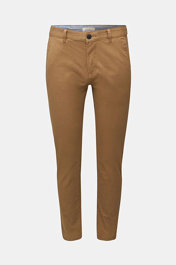 Stretch cotton chinos, CAMEL, detail image number 6