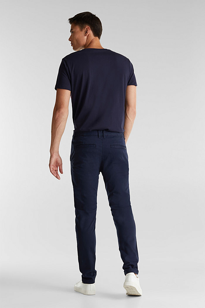 Stretch cotton chinos, NAVY, detail image number 3