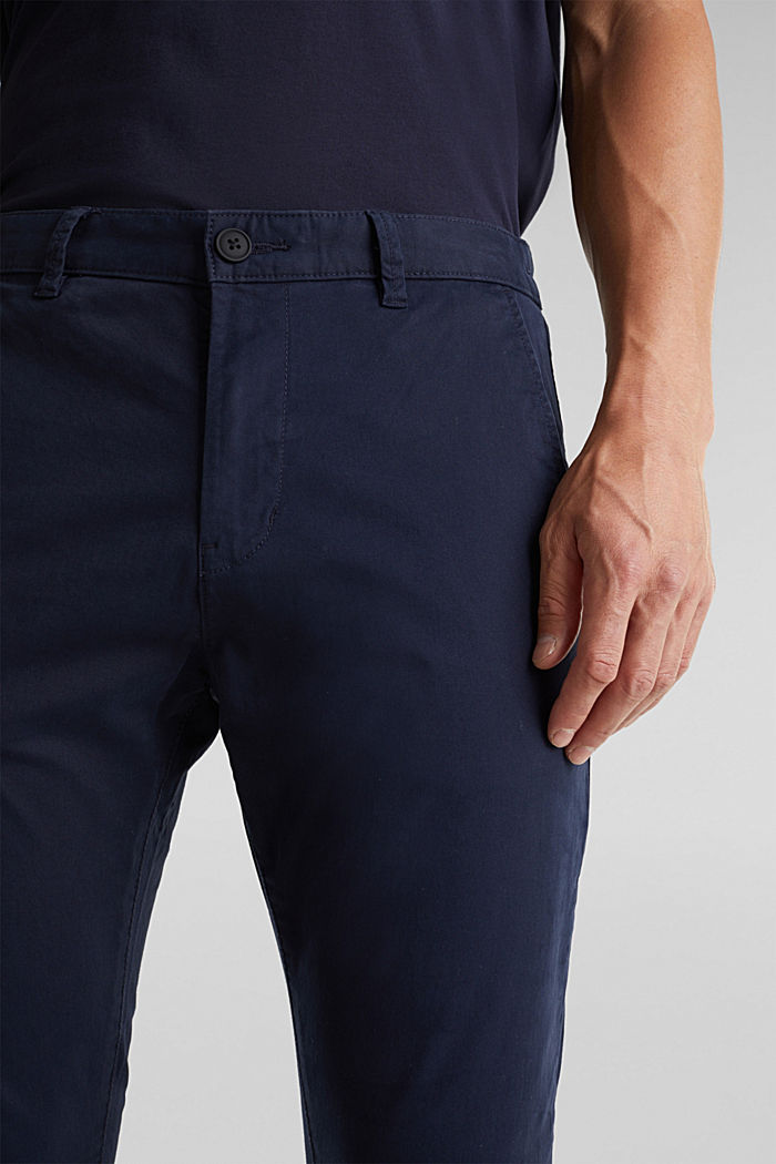 Stretch cotton chinos, NAVY, detail image number 2