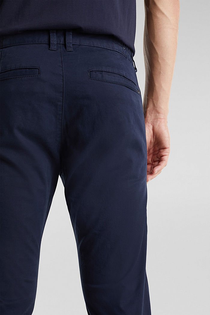 Stretch cotton chinos, NAVY, detail image number 5