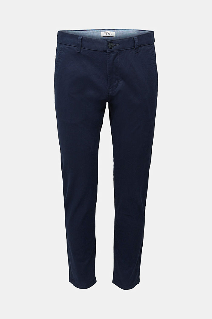 Stretch cotton chinos, NAVY, detail image number 6