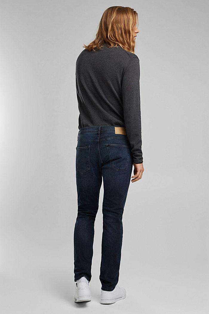 Organic cotton jeans, BLUE BLACK, detail image number 1