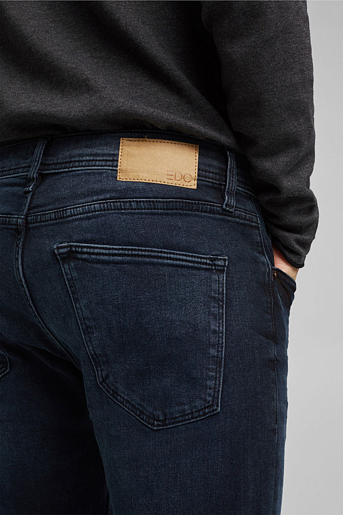 Organic cotton jeans, BLUE BLACK, detail image number 6