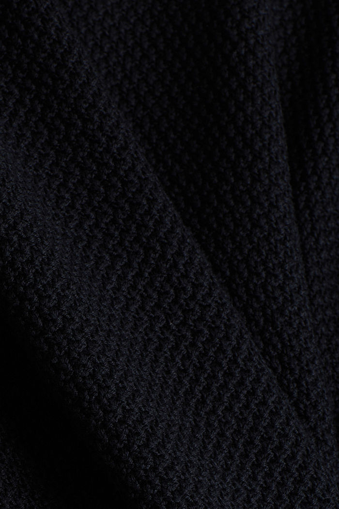 Pullover aus 100% Organic Cotton, BLACK, detail image number 4